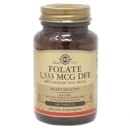 Solgar Metafolin Folate 800 MCG  - 100 Tablets