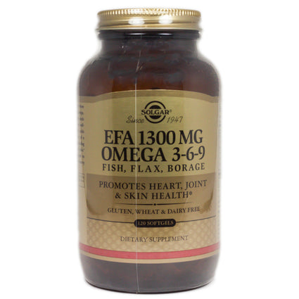 Solgar EFA 1300 mg Omega 3-6-9  - 120 Softgels