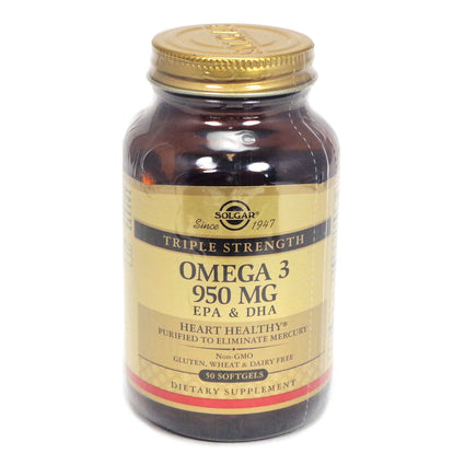 Solgar Omega 3 950 MG EPA & DHA - 50 Softgels
