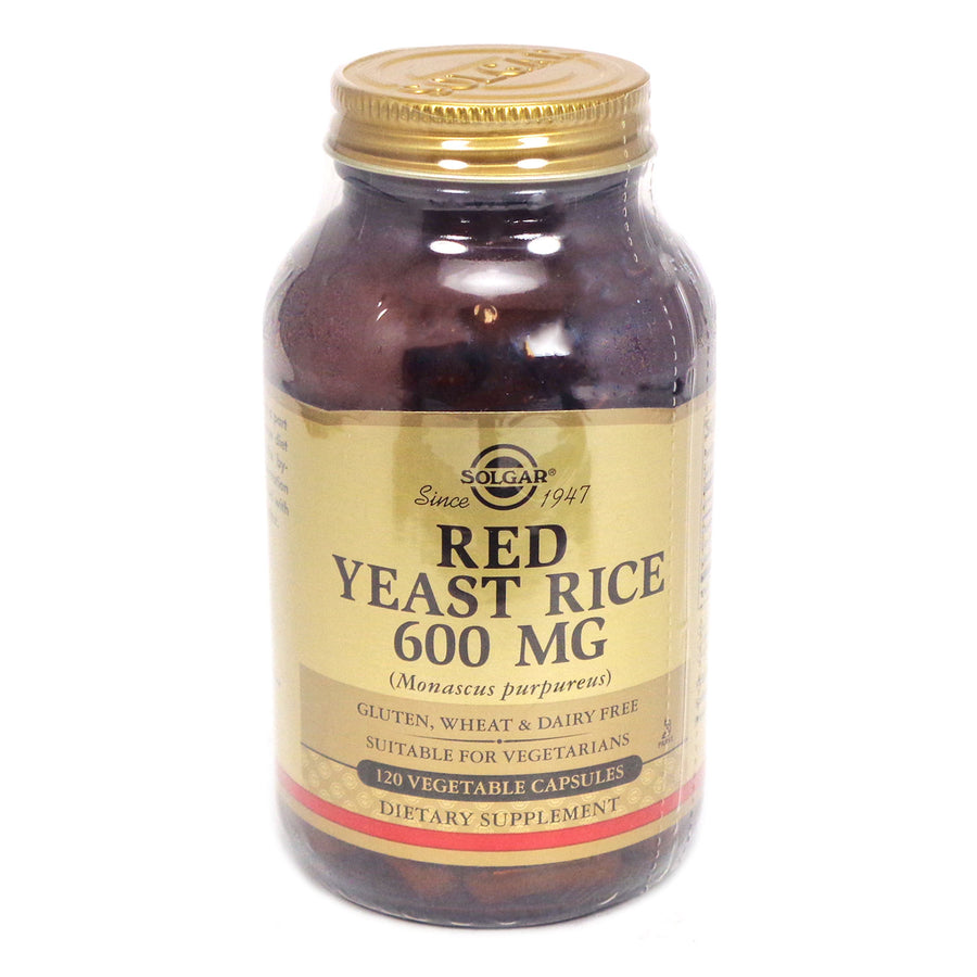 Solgar Red Yeast Rice 600 MG - 120 Vegetable Capsules