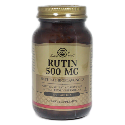 Solgar Rutin 500 mg Tablets  - 100 Count