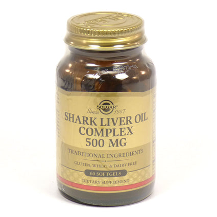 Solgar Shark Liver Oil Complex 500 mg  - 60 Softgels