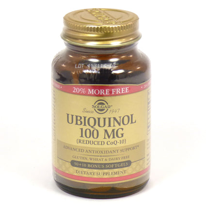 Solgar Ubiquinol (Reduced Co-Q10) 100 mg  - 50 Softgels