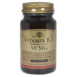 Solgar Vitamin B2 50 mg Tablets (Riboflavin)   - 100 Count