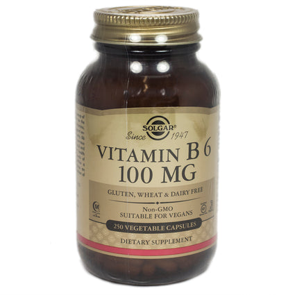 Solgar Vitamin B6 100 mg Vegetable Capsules   - 250 Count