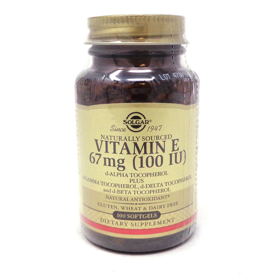 Vitamin E 100 IU Mixed Softgels By Solgar - 100 Count