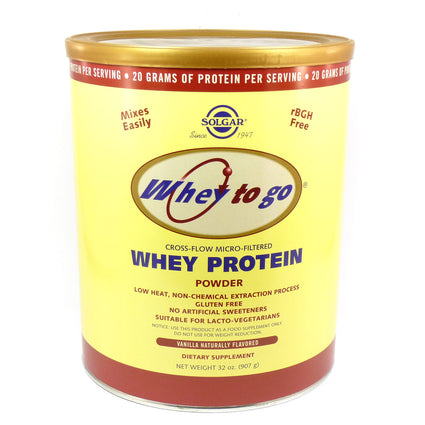 Solgar Whey To Go Protein Powder Natural Vanilla Bean Flavor  - 32 ounces