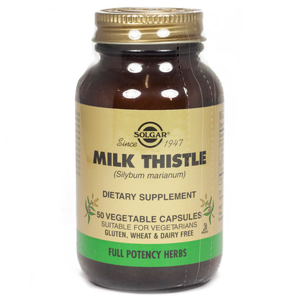 Solgar FP Milk Thistle Vegetable Capsules  - 50 Count