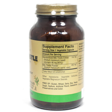 Solgar FP Milk Thistle Vegetable Capsules  - 100 Count