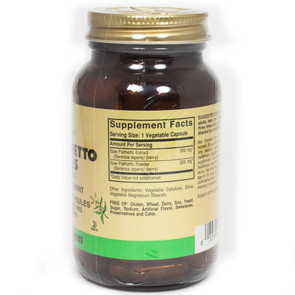 Solgar FP Saw Palmetto Berries Vegetable Capsules  - 100 Count