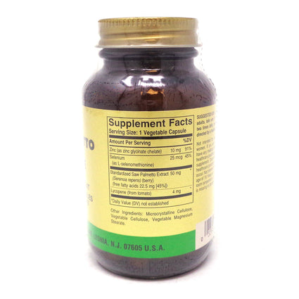 Saw Palmetto Pygeum Lycopene Complex Vegetable Capsules  By Solgar - 50 Count
