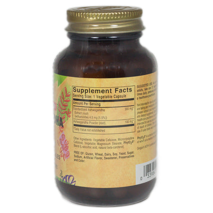 Solgar SFP Ashwagandha Root Extract Vegetable Capsules  - 60 Count
