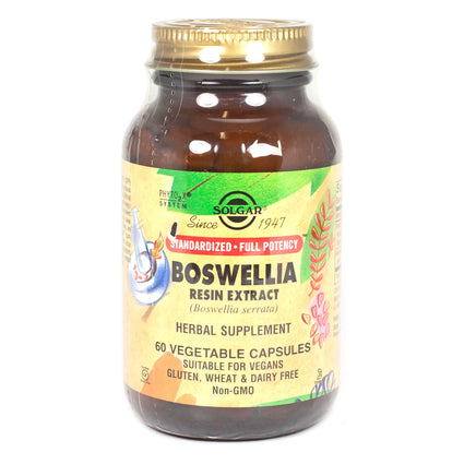 Solgar SFP Boswellia Resin Extract Vegetable Capsules  - 60 Count