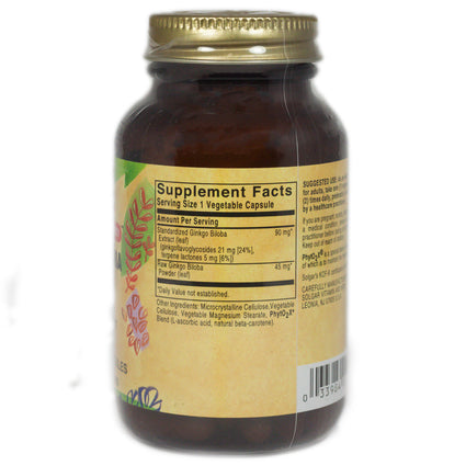 Solgar SFP Ginkgo Biloba Leaf Extract Vegetable Capsules   - 60 Count