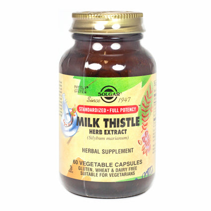 Solgar SFP Milk Thistle Herb Extract Vegetable Capsules  - 60 Count
