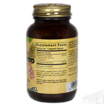 Solgar SFP Saw Palmetto Berry Extract Vegetable Capsules  - 60 Count