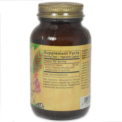 Solgar SFP Valerian Root Extract Vegetable Capsules   - 60 Count