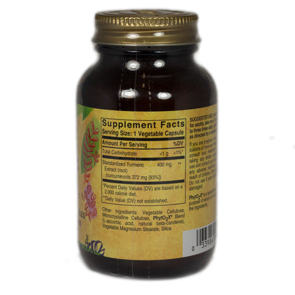 Solgar SFP Tumeric Root Extract Vegetable Capsules   - 60 Count