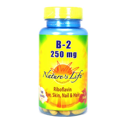 Vitamin B-2 250mg 250 mg By Nature's Life - 100  Tablets