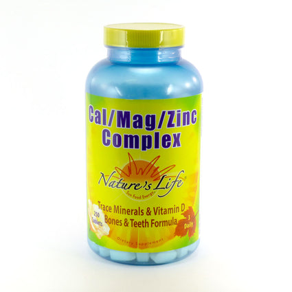 Cal Mag Zinc Complex By Nature's Life - 250  Tablets