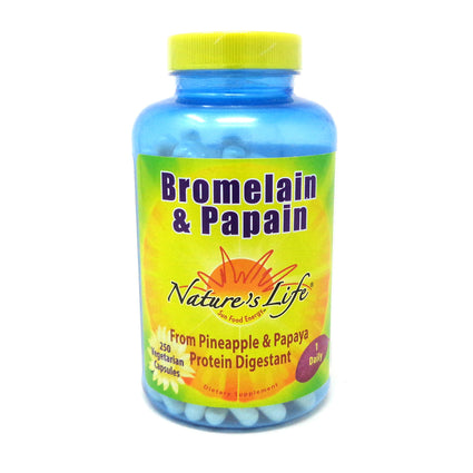 Nature's Life Bromelain & Papain - 250  Vegetable Caps