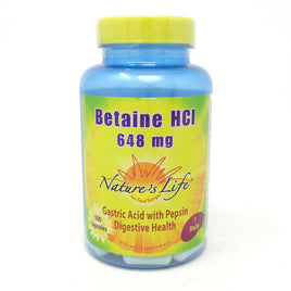 Betaine HCL 648 mg 648 mg By Nature's Life - 100  Capsules