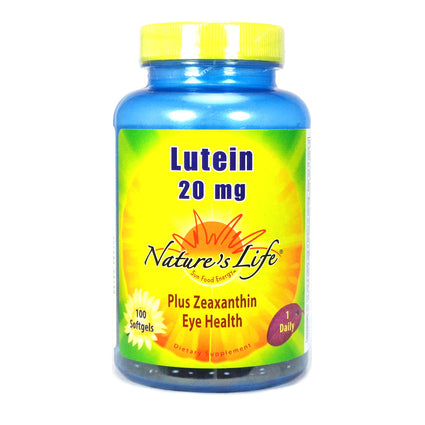 Lutein 20 mg 20 mg By Nature's Life - 100  Softgels