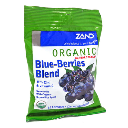 Herbal Lozenges Blueberries Blend By Zand - 18 Lozenges