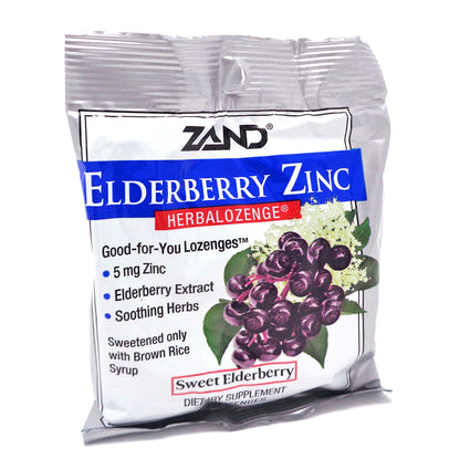 Elderberry Zinc Herbalozenge by Zand - 15 Lozenges