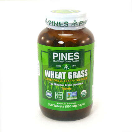Wheat Grass Tablets By Pines - 500 Tablets
