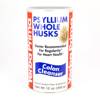 Yerba Prima Psyllium Whole Husks Colon Cleanser 12 Ounces