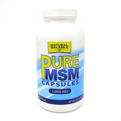 Pure MSM 1000mg By Natural Balance - 240 Capsules
