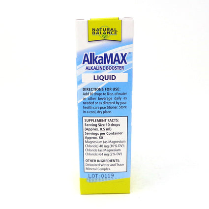 AlkaMax -Alkaline Booster Liquid By Natural Balance - 1 Ounce