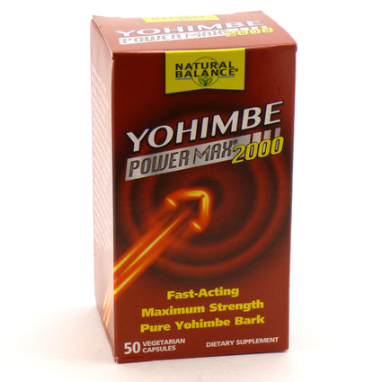 Yohimbe Power Max 2000 by Natural Balance - 50 capsules