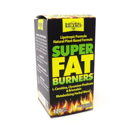 Natural Balance Super Fat Burners Veg Cap (Btl-Glass) 120ct