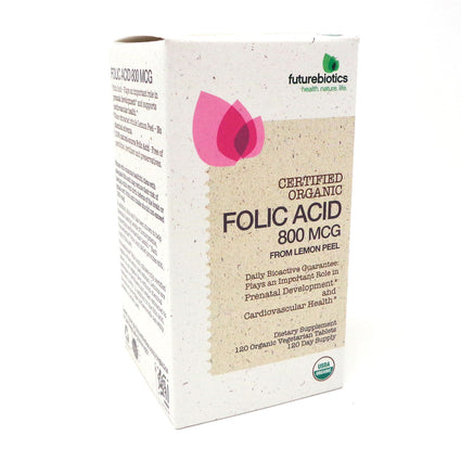 Folic Acid 800MCG by Futurebiotics - 120 Tablets