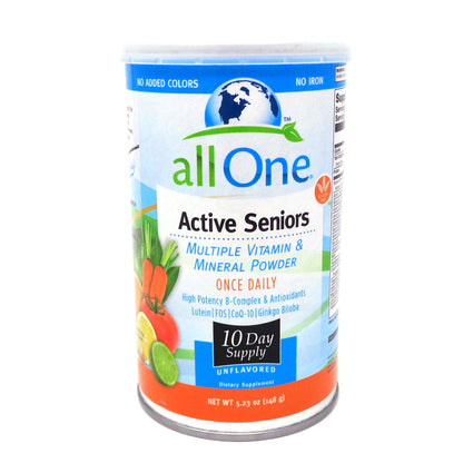 All One Active Seniors 10 Day Supply Powder Unflavored (Can) 5.29oz