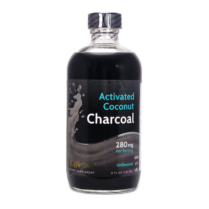 Activated Coconut Charcoal Unflavored Liquid By Lifetime - 8 Ounces