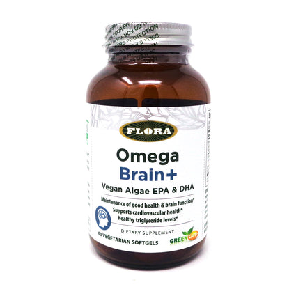 Flora  Omega Brain+  - 60 Softgels