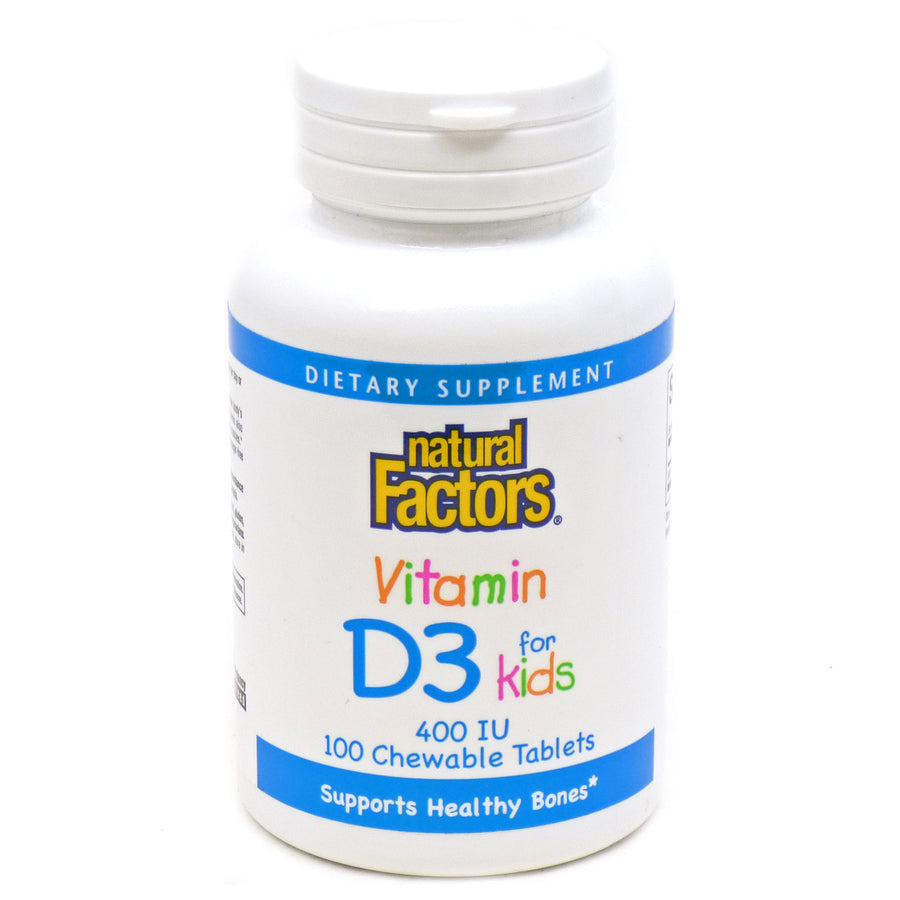 Vitamin D3 for kids by Natural Factors - 100 Cewables