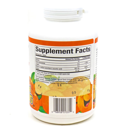 Vit.C 500mg Orang Chw By Natural Factors - 180 Tablets