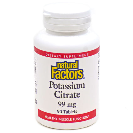 Potassium Citr 99mg By Natural Factors - 90 Tablets