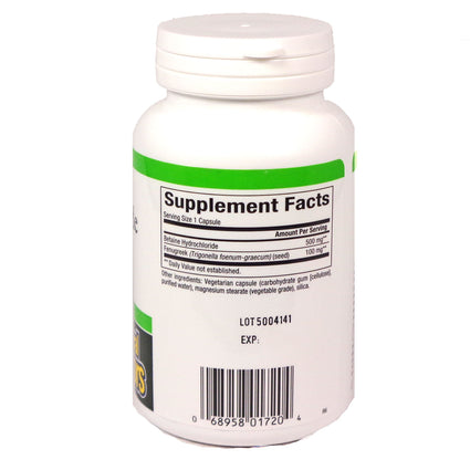 Betaine HCL 500mg By Natural Factors - 90 Capsules