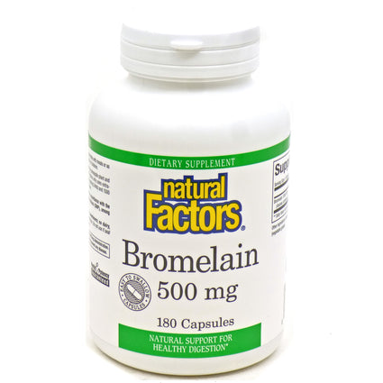 Bromelain Extra 500mg By Natural Factors - 180 Capsules