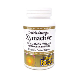 Double Strength Zymactive Proteolytic Enzymes by Natural Factors 90 Tablets