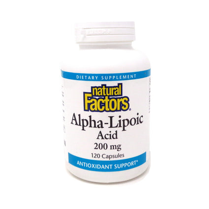 AlphaLipoic Acid 200mg By Natural Factors - 120 Capsules