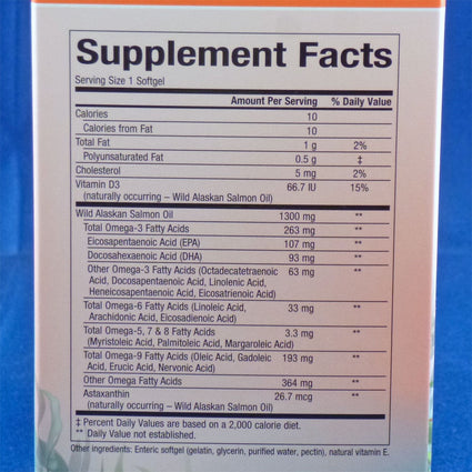 Salmon Oil Complete Omega By Natural Factors - 90 Softgels