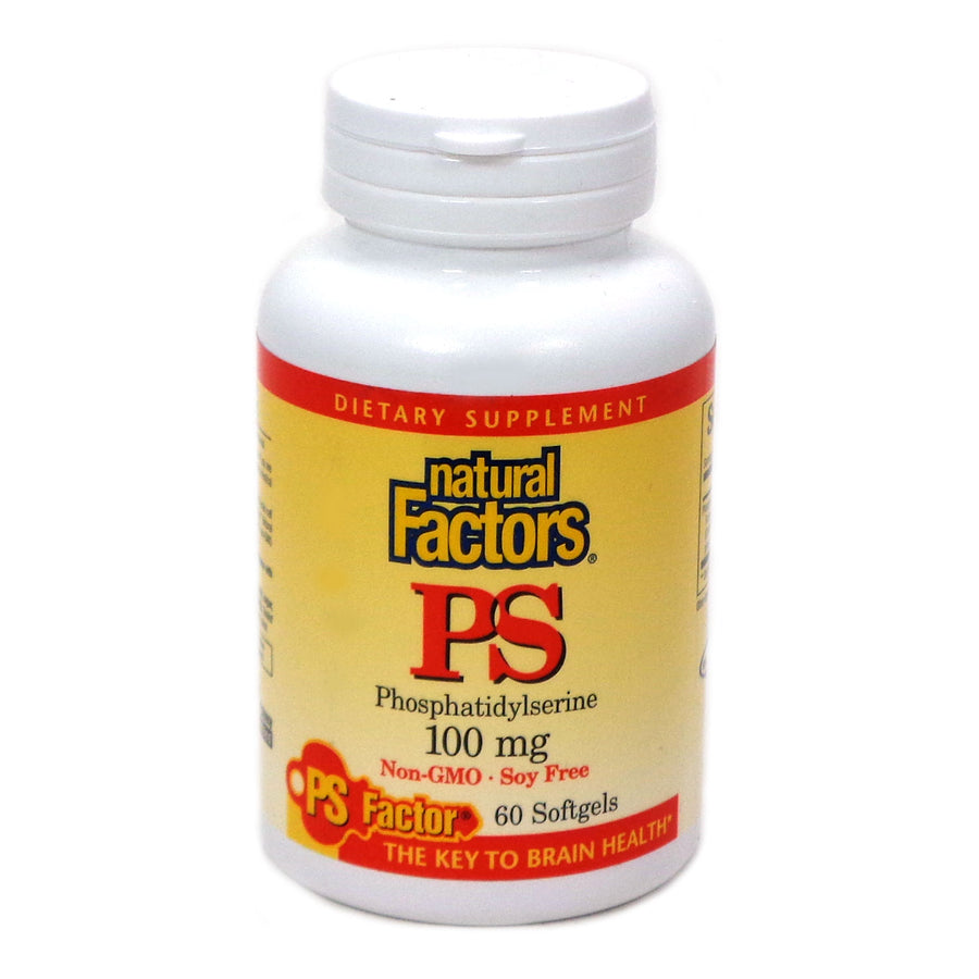 PhosphatidylSerine 100mg By Natural Factors - 60 Softgels