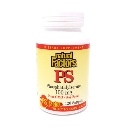 Natural Factors PS Phosphatidylserine 100mg-120 Softgels