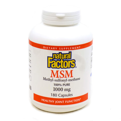 MSM 1000mg Lignisul By Natural Factors - 180 Capsules